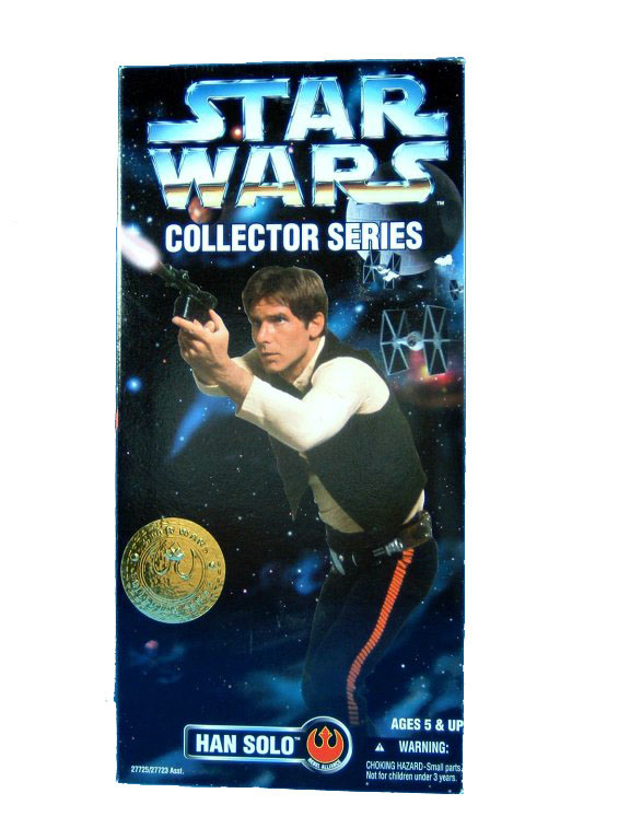 "1997 Star Wars POTF2 12"" HAN SOLO Sealed"